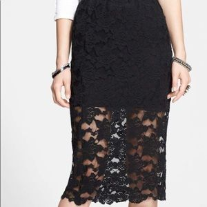 Free people delicate lace pencil skirt